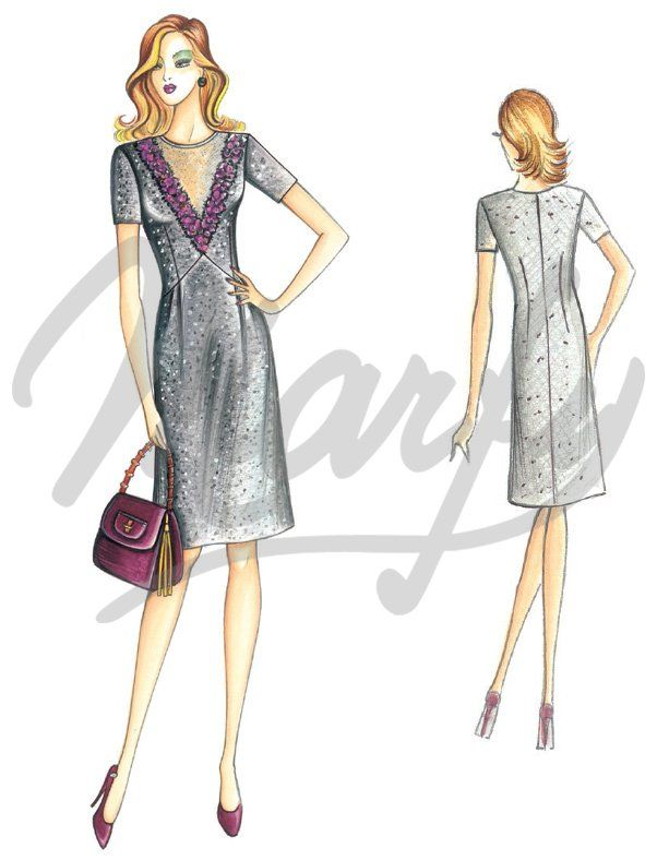 Our Patterns :: Marfy Collection 2015/2016 :: Sewing Pattern 3786 -