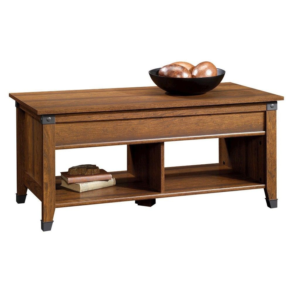 Sauder Carson Forge Lift Top Coffee Table Washington Cherry