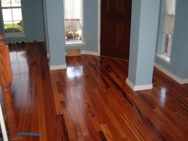 Brazilian Koa Hardwood Flooring overview Brazilian Koa Flooring With Blue Wall