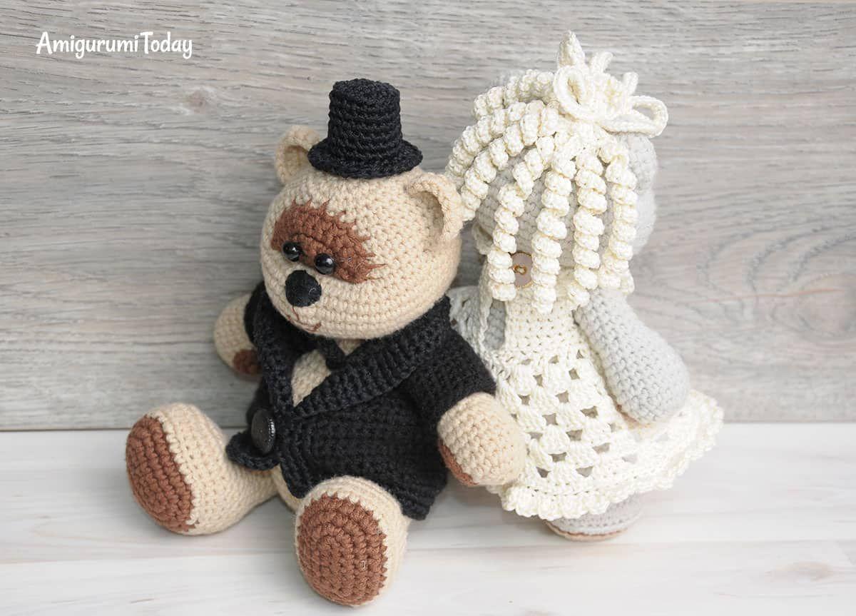 Amigurumi Crochet Patterns Teddy Bears : Amigurumi wedding teddy bears free crochet pattern ganchillo