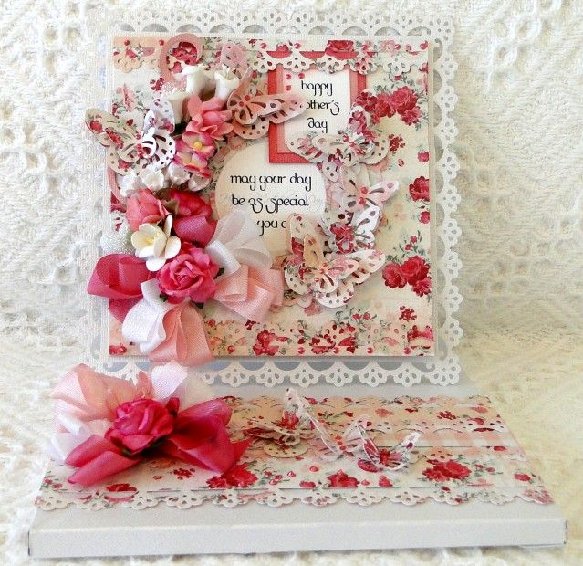Beautiful Mother's Day card by D. Anderson listed on Ebay.