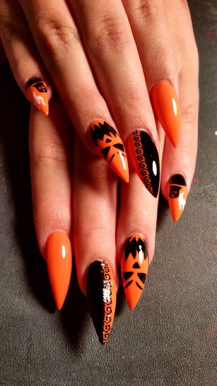 Halloween Nails Halloween Nails Pumpkin Spooky Halloweennails Halloween Nail Designs Halloween Nails Halloween Nail Art