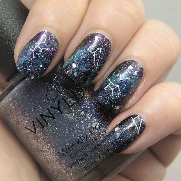 Procrastinails Nail Art Galaxy For 31dc2016 Galaxy Stamping
