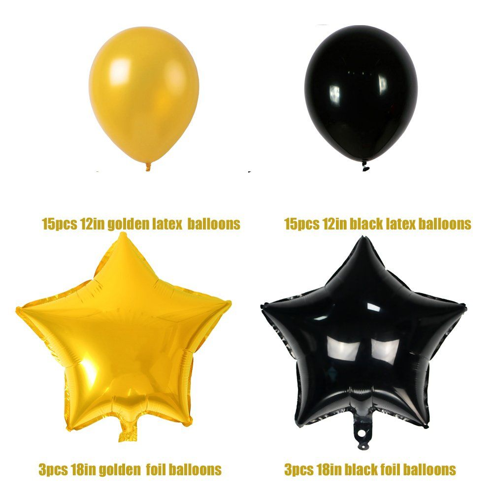 Happy Birthday Round Foil Mylar Helium Balloon,18 Round Foil Balloon for Birthday Anniversary BabyShower Party Decoration Pack of 6