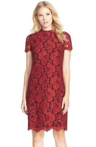 1287040ae209e Women's Betsey Johnson Mock Neck Lace Sheath Dress from Nordstrom on  Catalog Spree