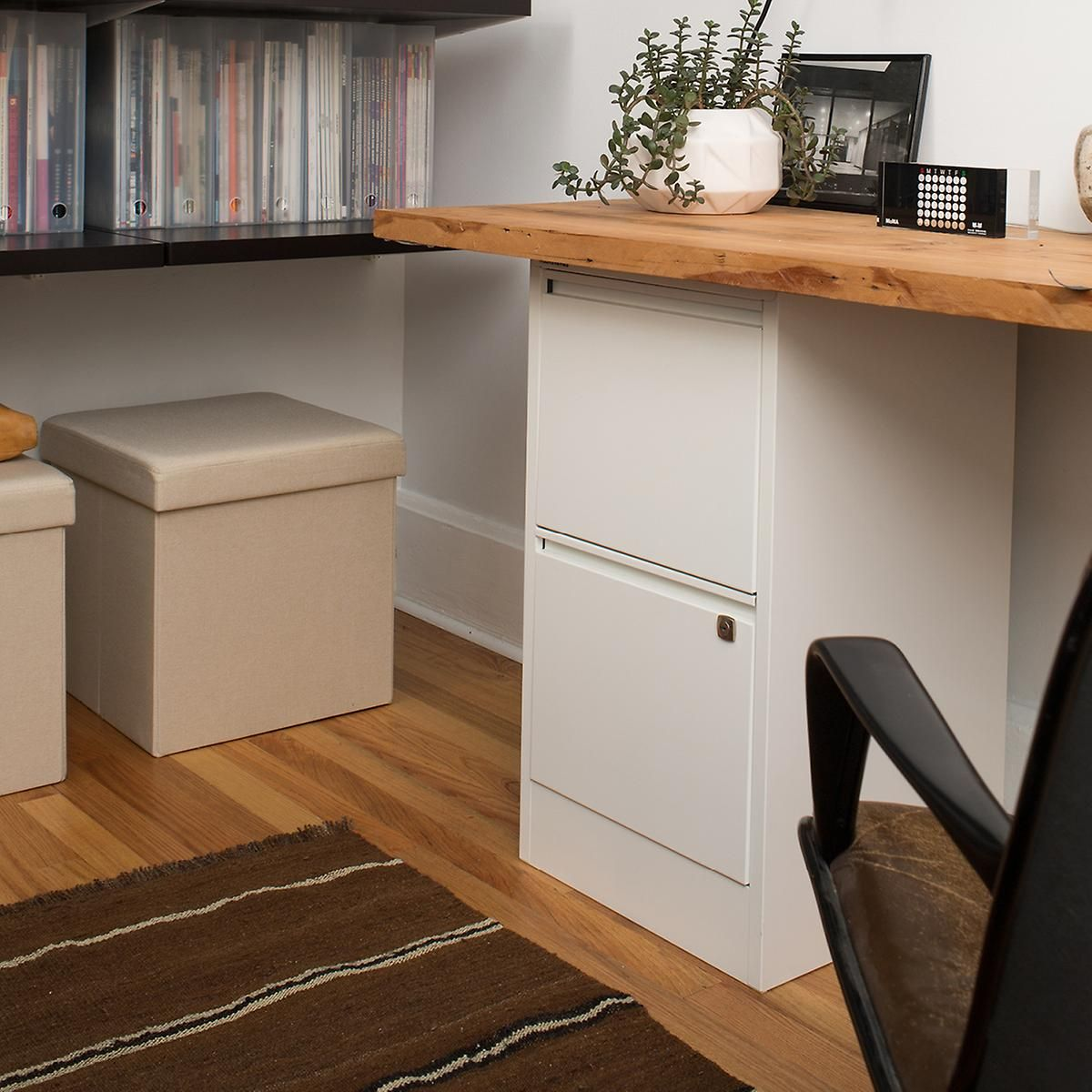White Bisley 2 3 Drawer Locking Filing Cabinets The Container Can Use These As Table Legs