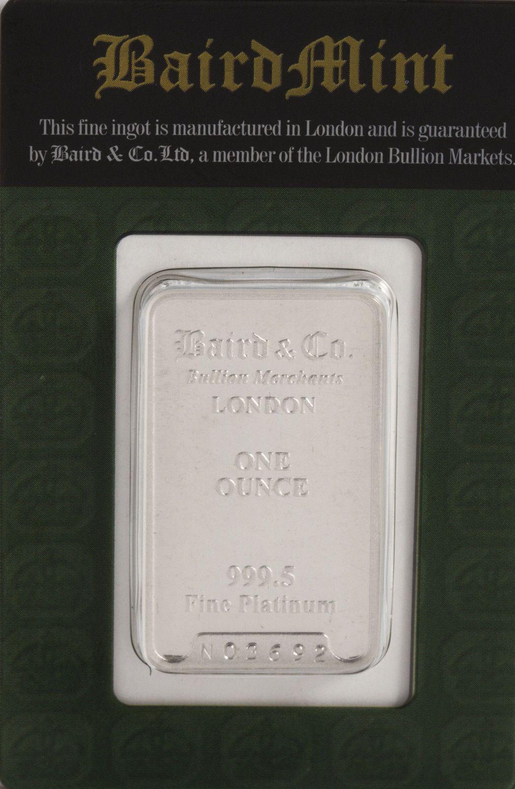1oz Baird Mint 9995 Platinum Bar With Images Baird Mint Bar