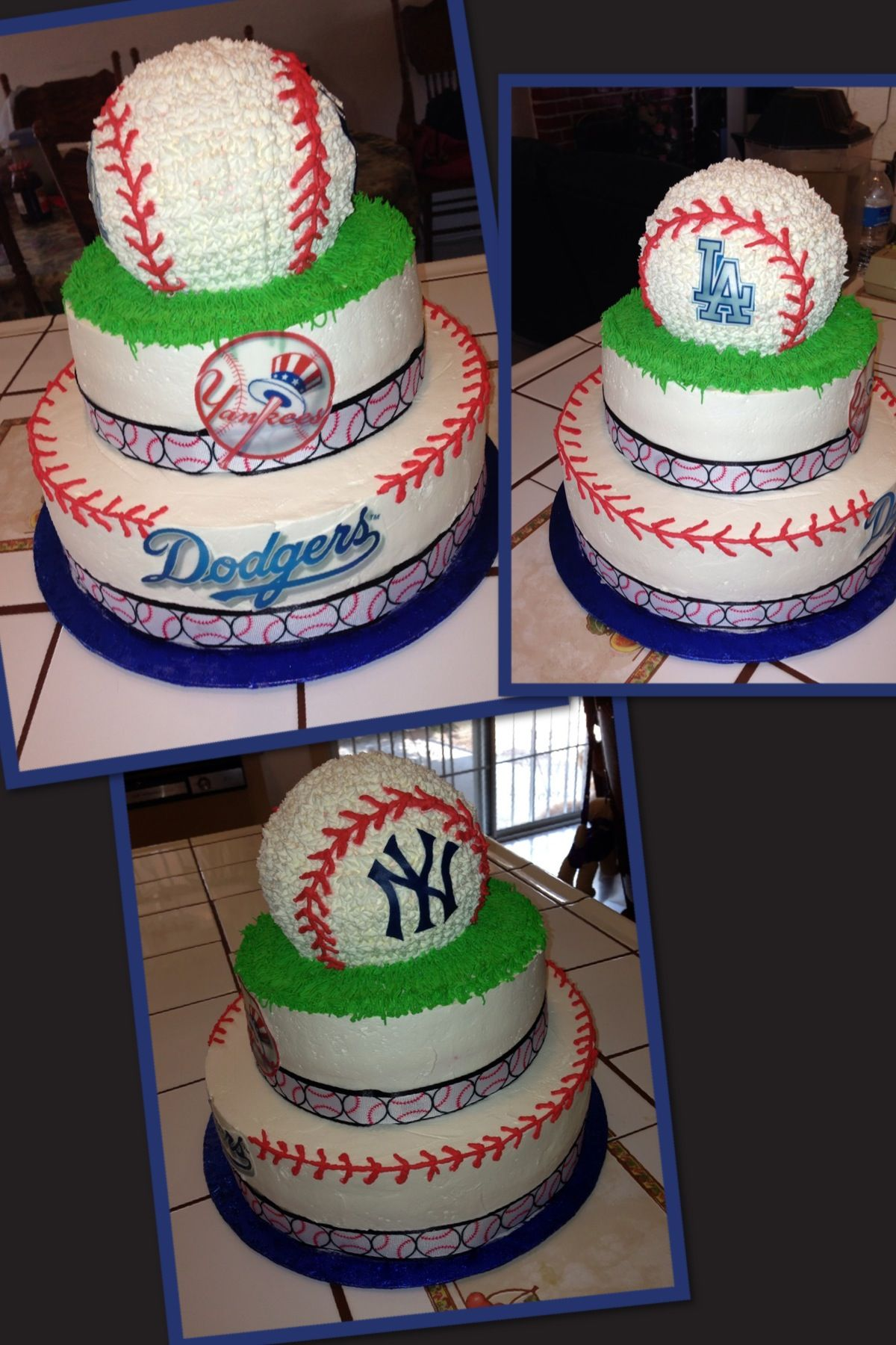 Dodgers And Yankee Cake