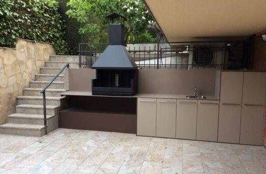 Cocina Barbacoa Exterior Realizada Con Materiales Totalmente
