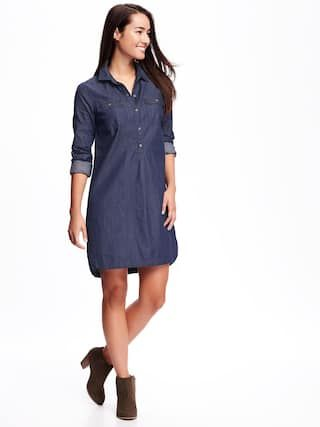 fd7f230051 Chambray Shirt Dress for Women in 2019 | STYLE | Dresses, Blue shirt ...