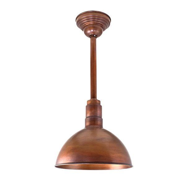 The Wesco Deep Bowl Copper Stem Mount Pendant | Barn Light ...