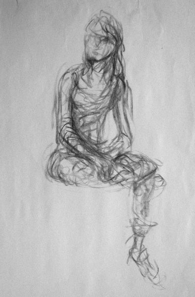 Scribble Drawing Ideas : Gesture drawing on pinterest figure reference