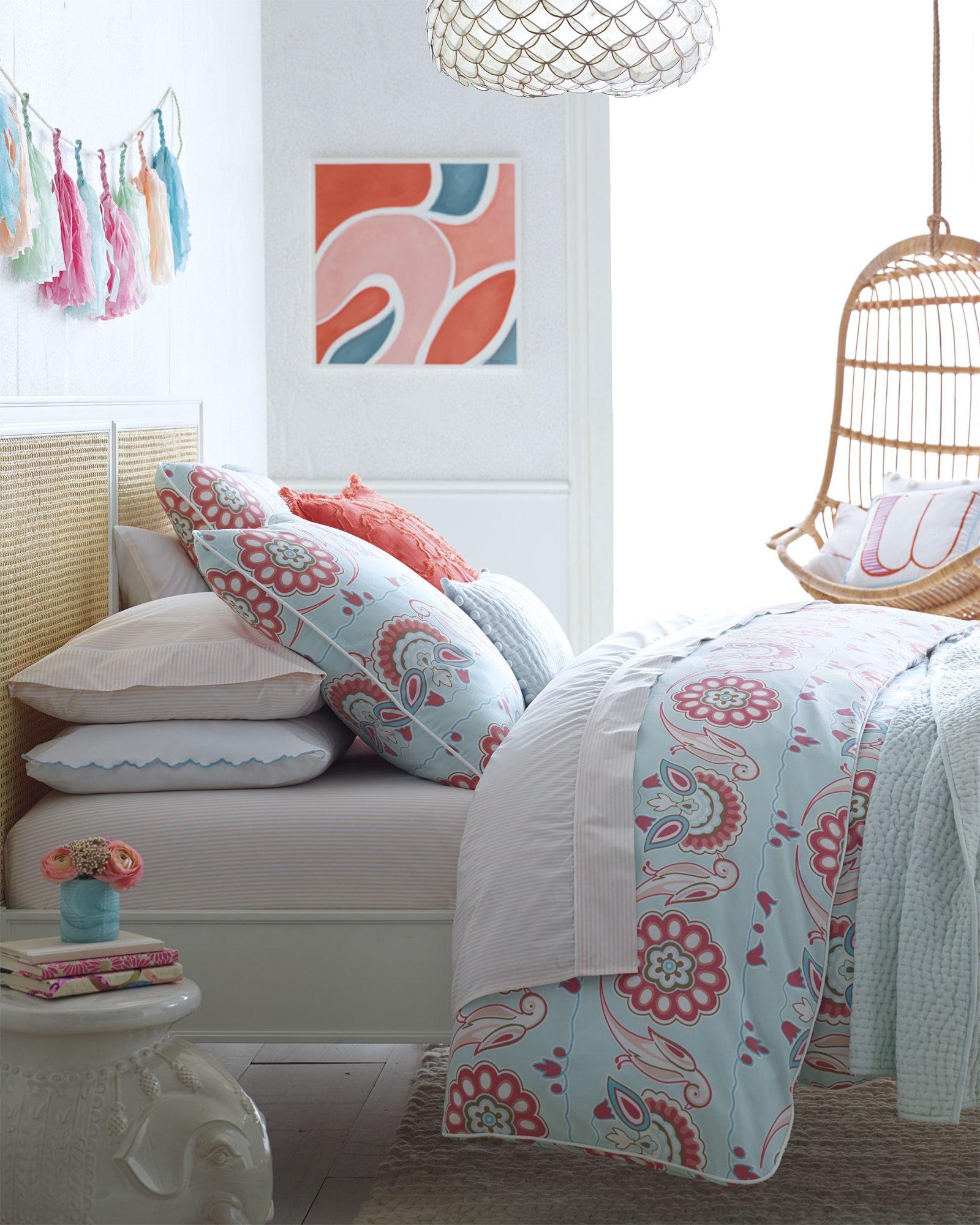 Bedroom ideas for your little girl | Annabel Duvet Cover via Serena & Lily