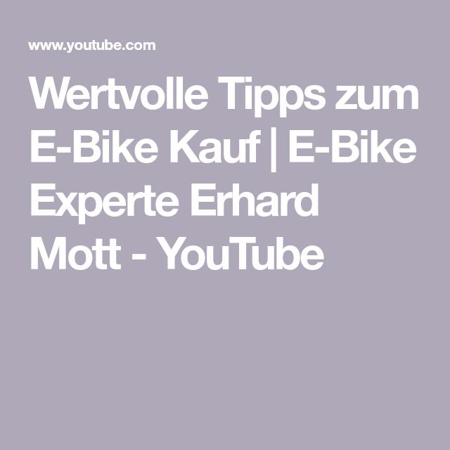 Wertvolle Tipps Zum E Bike Kauf E Bike Experte Erhard Mott Youtube Zahnriemen E Biker