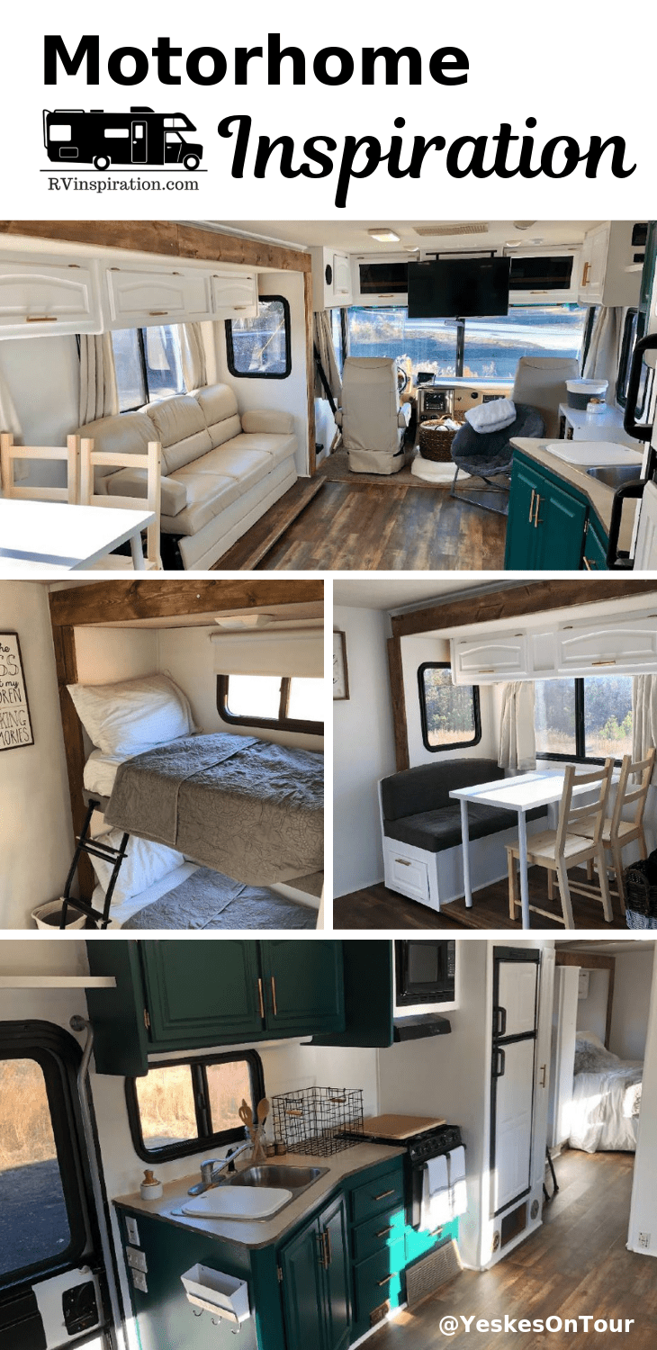 Family Reinvents Their Life Travels The U S In Renovated Motorhome Rv Inspiration Motorhome Remodel Motorhome Interior Rv Renovations