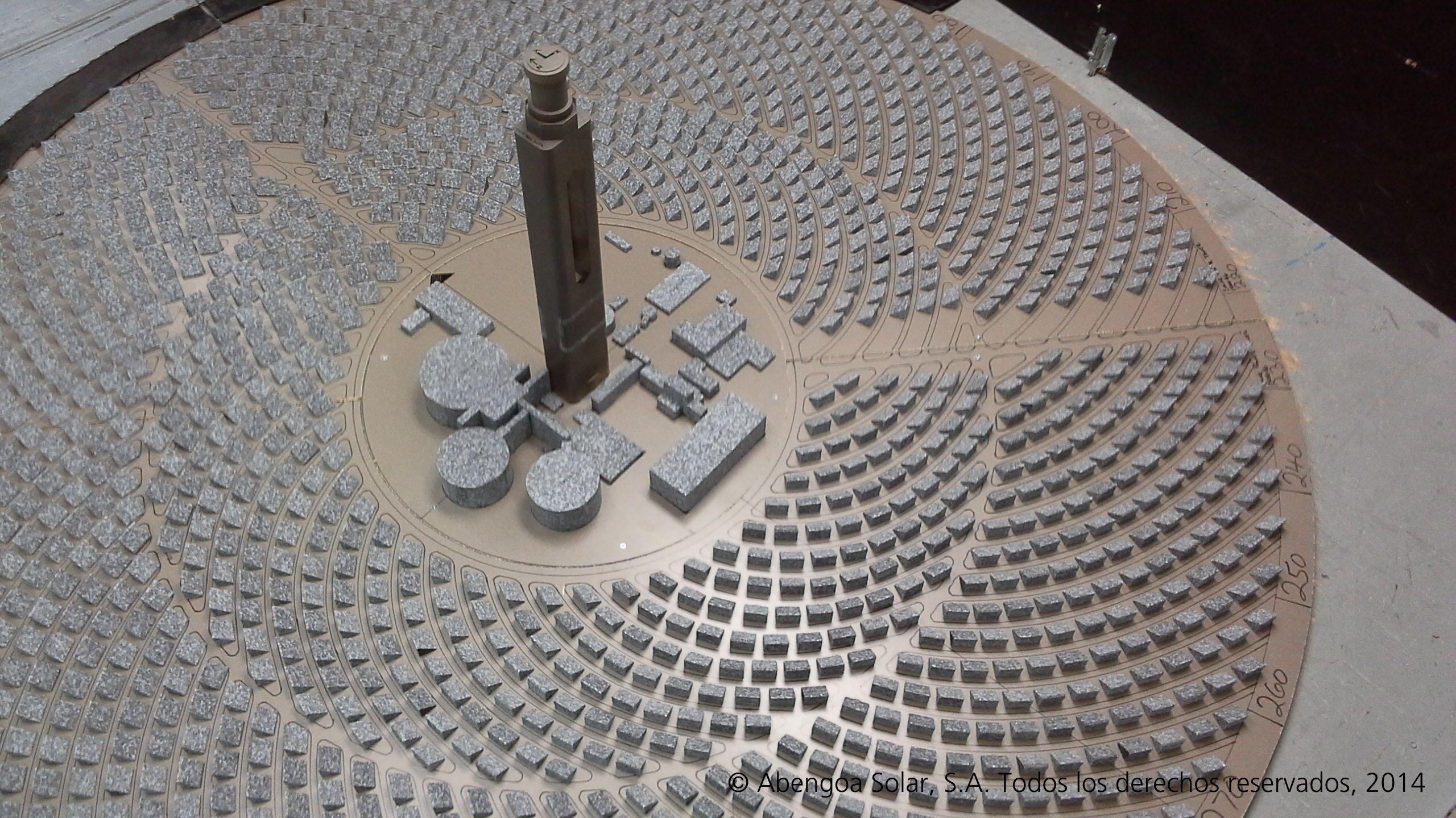 Scale model of the STE Atacama-1 Project , #Chile. //Maqueta del Proyecto STE Atacama-1, #Chile.  #Abengoa #PlantaSolar #EnergiaLimpia #Sostenible #America #Sol #Nuevo #SolarPlant #CleanEnergy #Sustainable #America #Sun #New