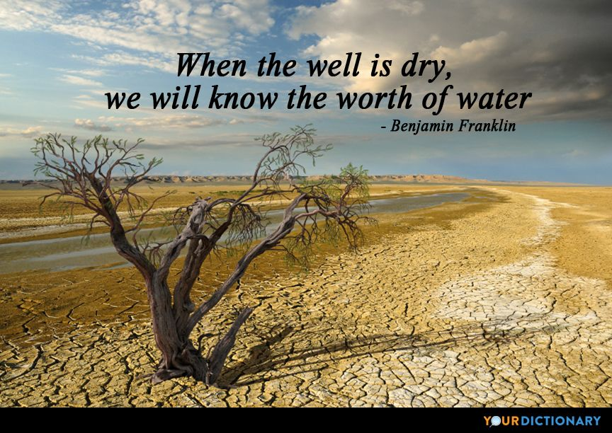 Quotes About Water When The Well Is Dry We Know The Worth Of Water Pinterest