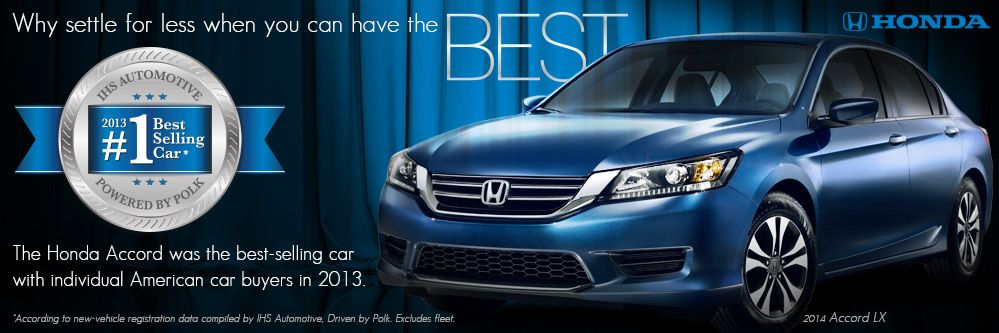 Why settle for less when you can have the best? The Honda
