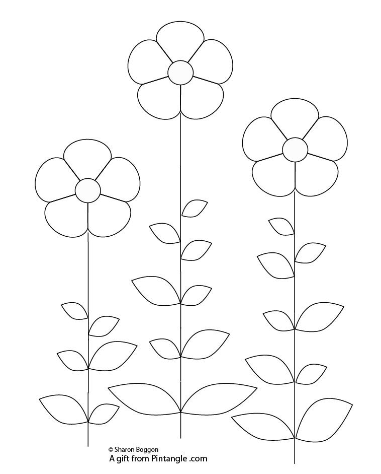 Free hand embroidery pattern from Pintangle.com | Embroidery ...
