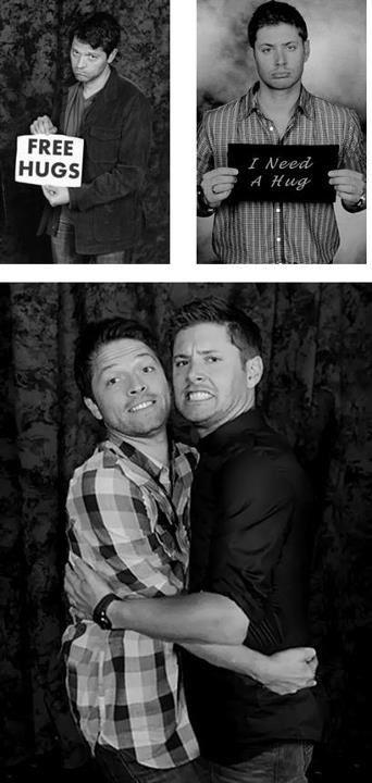 Aw Misha & Jensen Destiel | Destiel, Misha collins ...