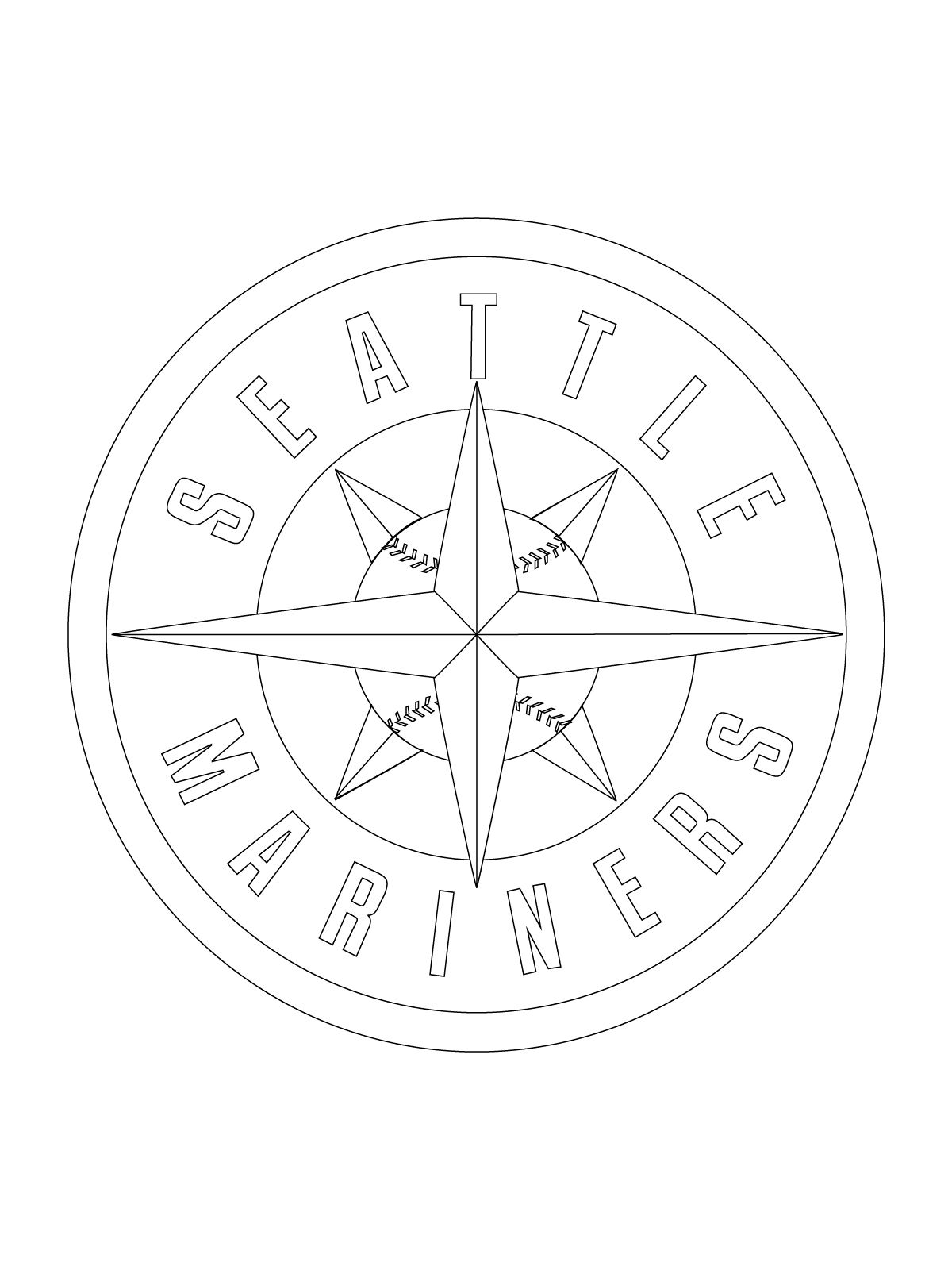 Seattle Mariners Logo Coloring Page Super Coloring Coloring