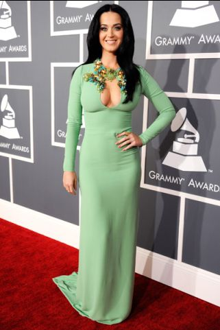 Katy Perry in Gucci at the 55th annual Grammy Awards in Los Angeles, California on February 10, 2013.   MTV Photo Gallery