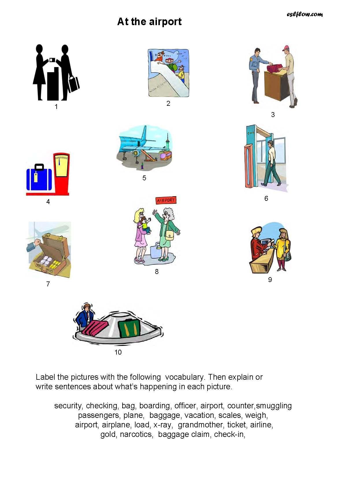 Airport Vocabulary Speaking Activity