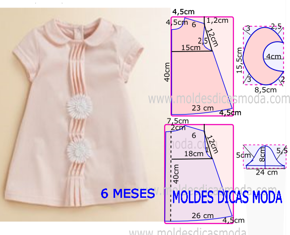 856e37439 Molde para hacer vestido para niña de 6 meses | Todo para niños y ...