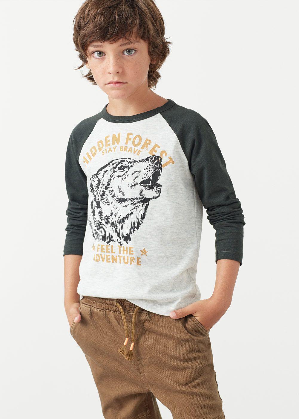 Camiseta combinada imagen -  Niños | MANGO Kids España