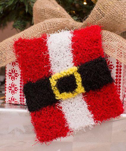Santa Belly Scrubby- knit   мочалки   Pinterest   Patrón libre ...