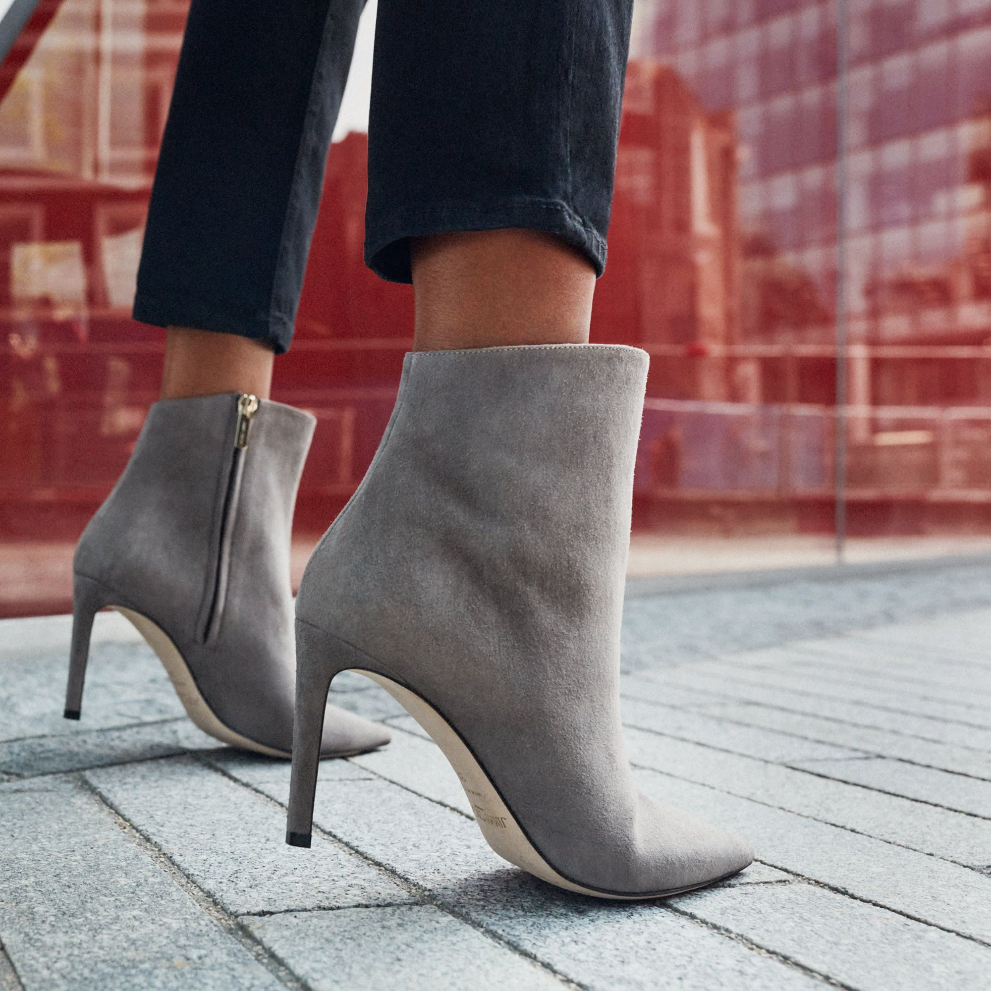 Boots, Grey ankle boots, Bootie boots