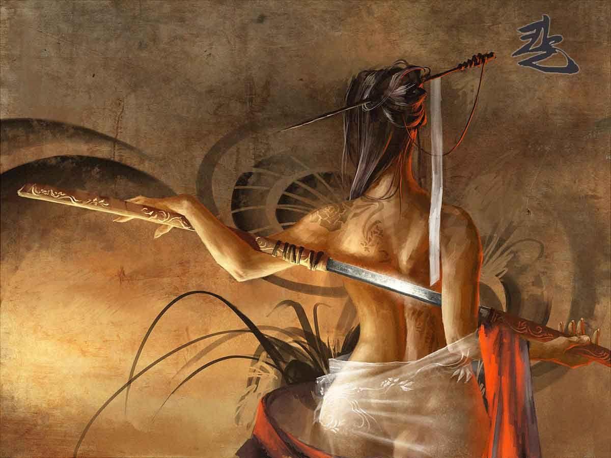 katana samurai artwork swords 1920x1080 wallpaper High Quality ...