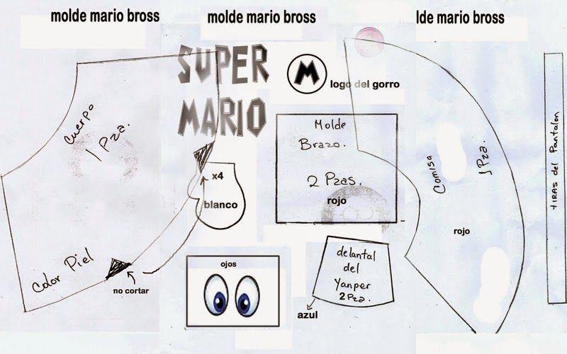Moldes de fofuchas Mario bros | fiesta para alex | Pinterest | Mario ...