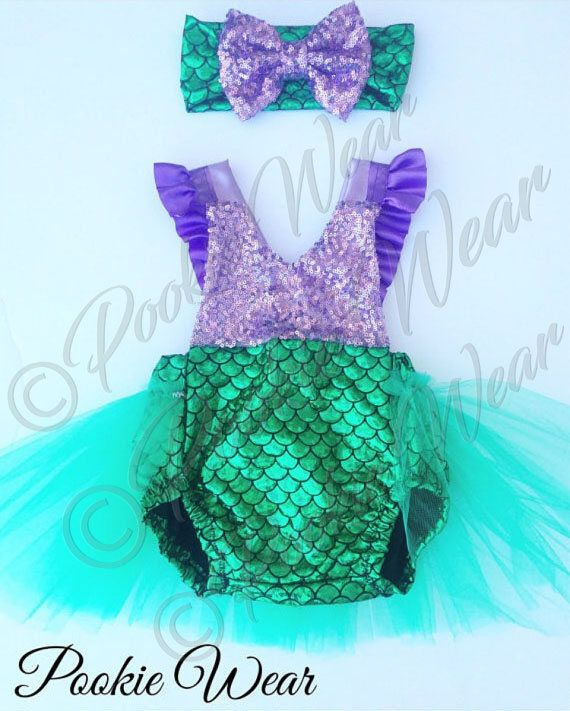 Mermaid Birthday Outfit First Birthday Outfit Little Mermaid