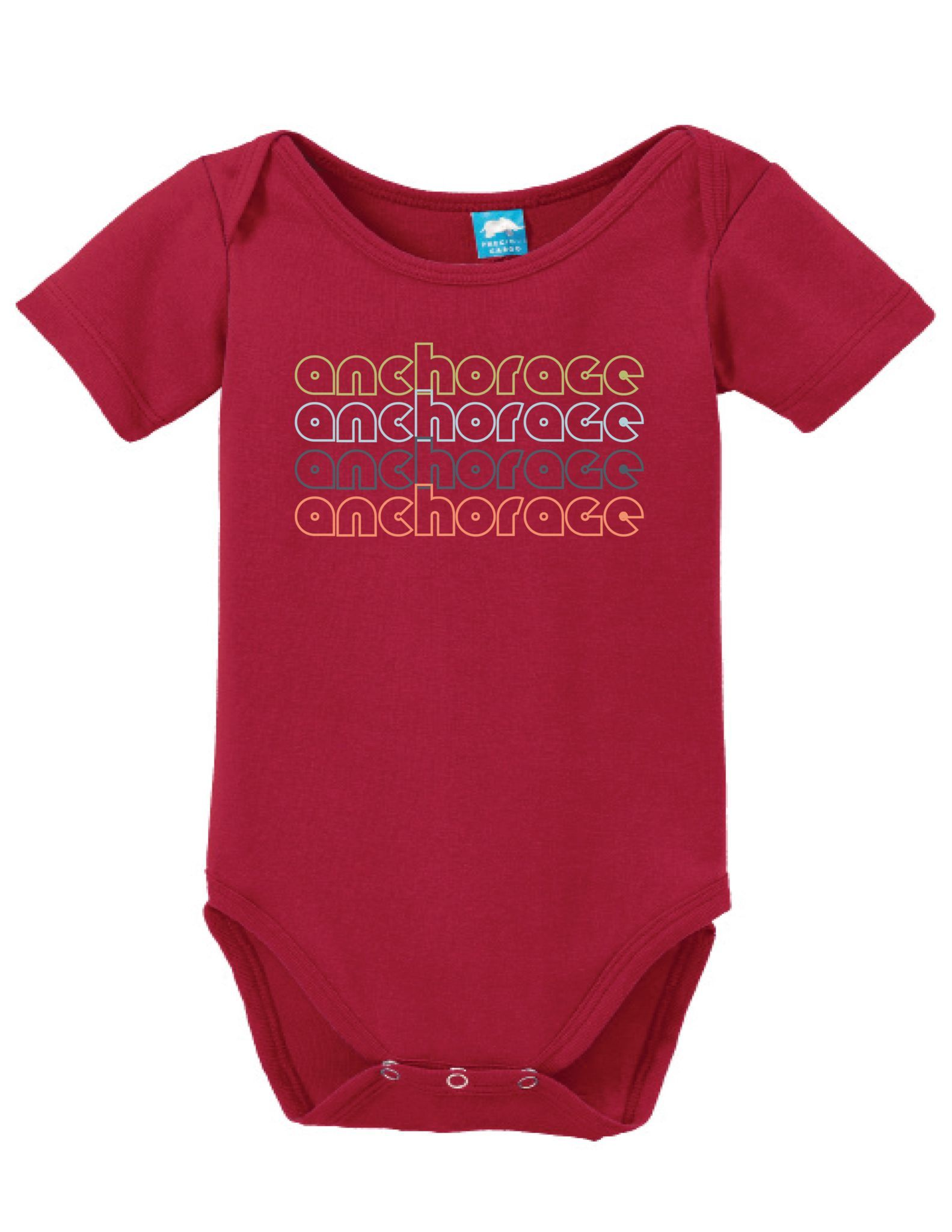 Anchorage Alaska Retro Onesie Funny Bodysuit Baby Romper Anchorage