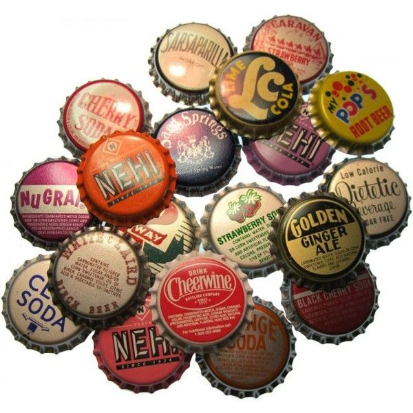 Unused Vintage Bottle Caps (6) : tiny things are cute: an emporium of... ❤ liked on Polyvore featuring fillers, backgrounds, accessories, decor and random