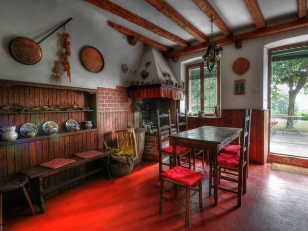 images about red country kitchen on, Kitchen