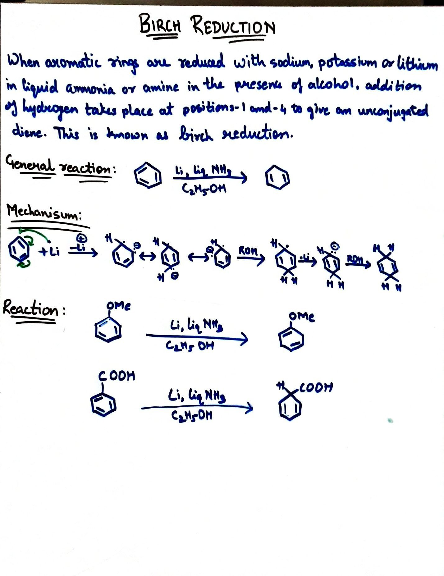 Birch Reduction Positivity Reactions Math What is addition reaction give example