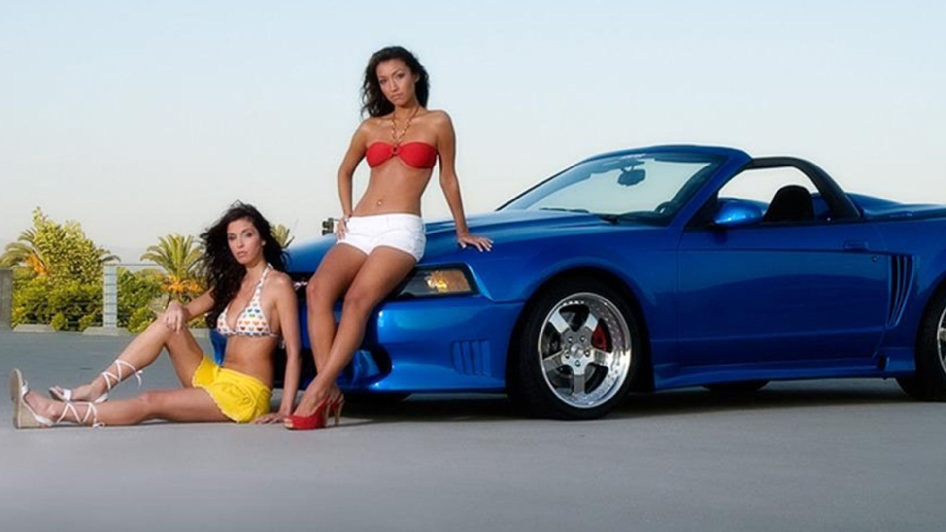 Nude Girls And Mustangs, Elizabeth Marxs And Ali Rose Wallpapers