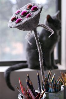 Wildly Woolly: Felted Lotus Seed Pod