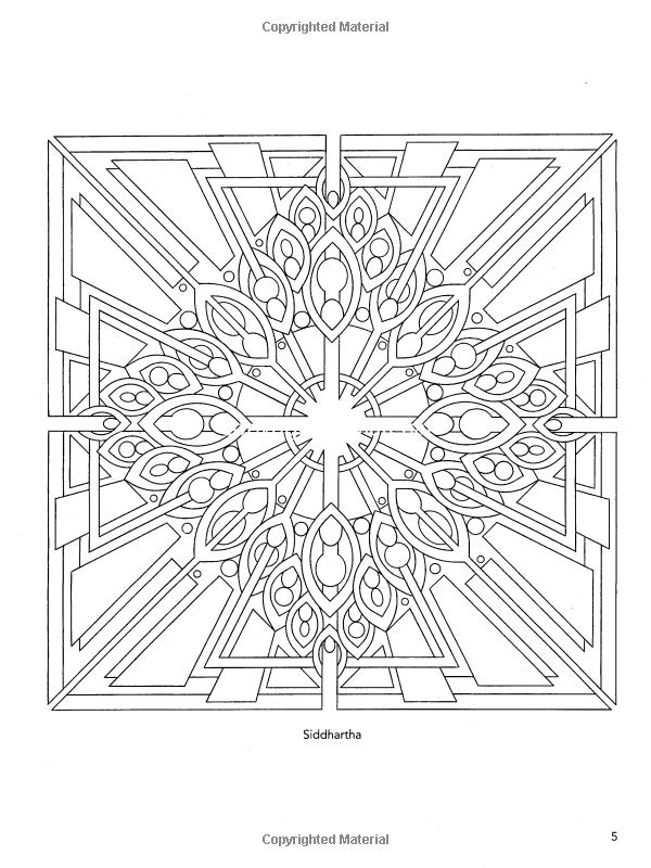 Sacred Yantra Coloring Book Dover Design Coloring Books Wil Stegenga 9780486470818 A Abstract Coloring Pages Pattern Coloring Pages Mandala Coloring Pages