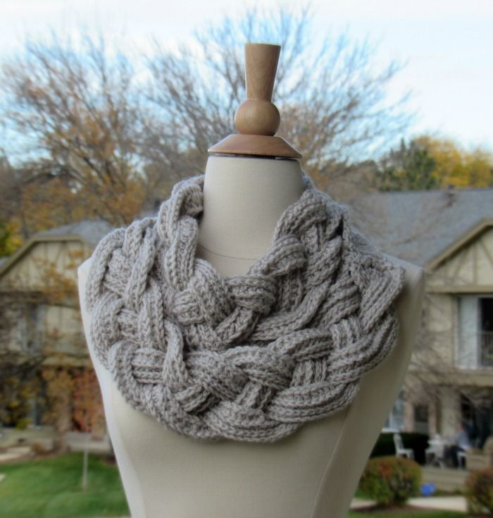 Double Layered Braided Cowl | Schals, Stricken und Häkeln