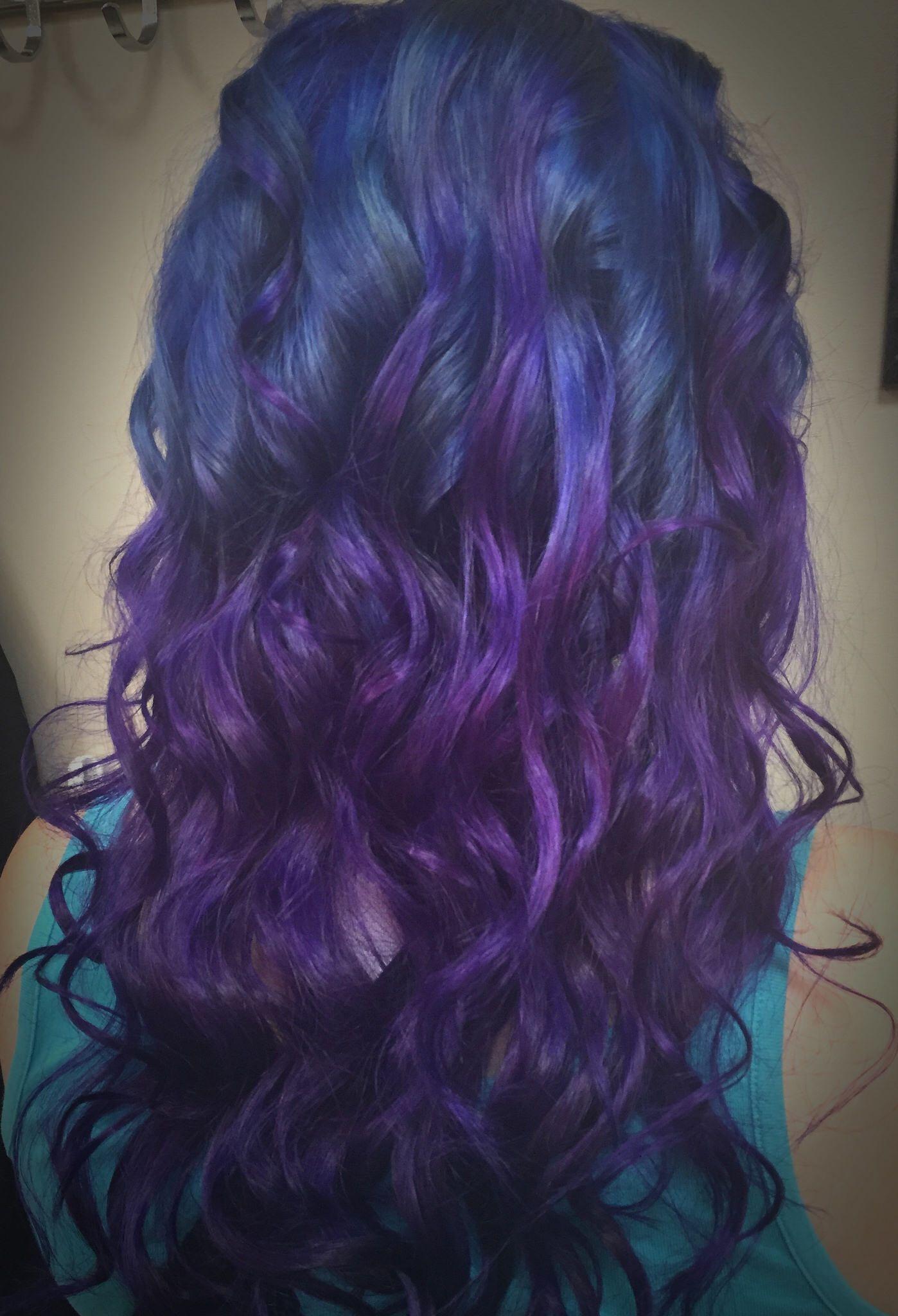 Blue and purple hair hair purple hair blue hair minot nd hair