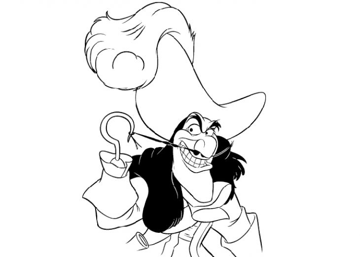 Captain Hook Coloring Page Disney Coloring Pages Pinterest - best of coloring pages disney jessie