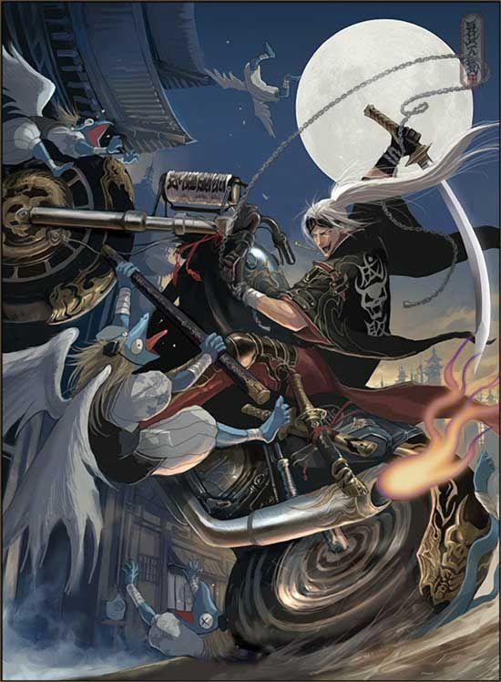 Manga Anime Motorcycle