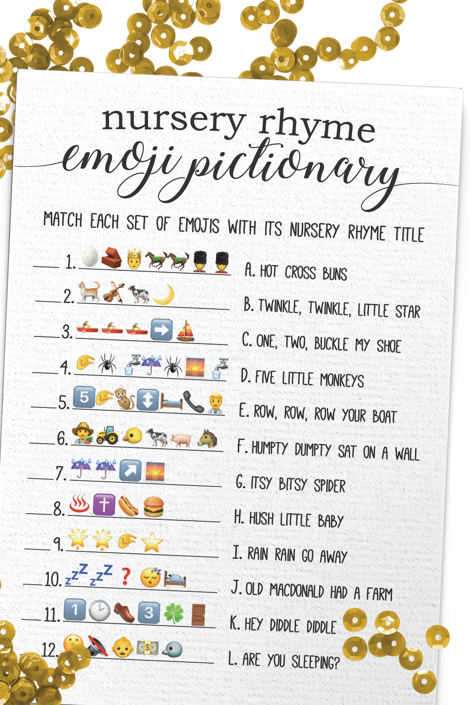 Nursery Rhyme Emoji Pictionary Baby Emoji Pictionary Baby ...