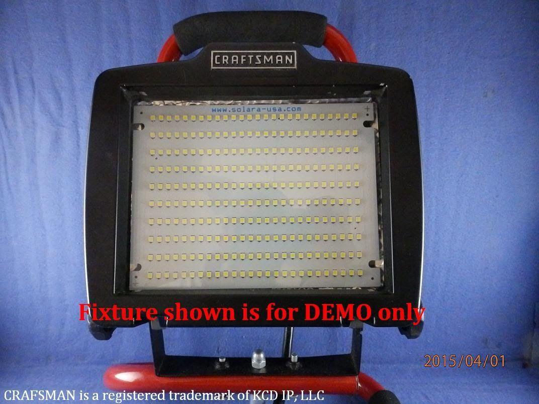 Converting 500 Watt Halogen Shop Light Using 2000 Lumen 9 5 Watts Led Pa Led Panel Shop Lighting Led
