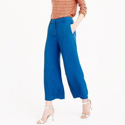 an airy pair of wide leg cropped pants with amazing movement that