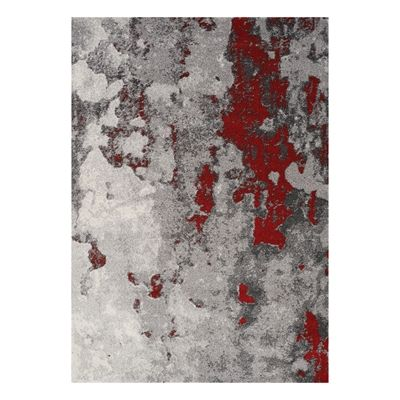 Kalora A006 0323 Freemont Grey Red Abstract Expression Area Rug