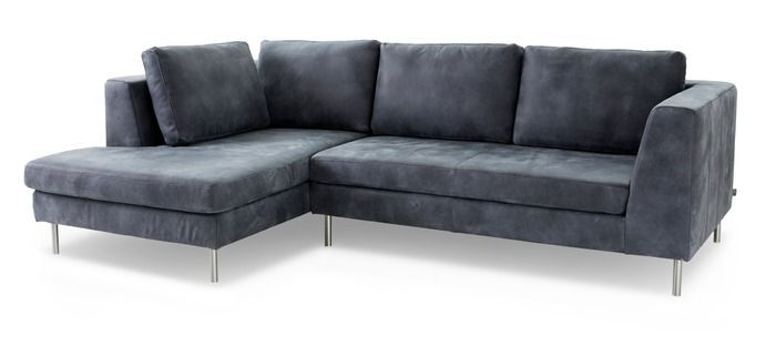 Ewald Schillig Sofa Domino Dark Blue Leather Couch Sofa Corner Sofa